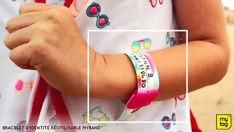 Bracelet d'identité réutilisable Myband