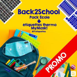 Promo! Pack école + Etiquette thermocollante à 335 Dhs seulement